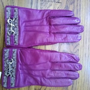 Leather Coach Gloves NWT